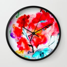 RED  #society6 #decor #buyart Wall Clock