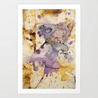 koala Art Prints featuring KOALA by hoploid