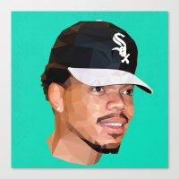 chance the rapper Canvas Prints featuring Chance by Joshua Burkett Designs