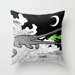Crocodiles Throw Pillow