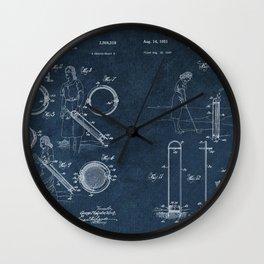 golf club carier WICK patent art Wall Clock