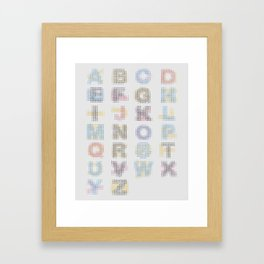CMYK Alphabet Framed Art Print