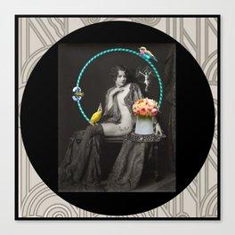 The Hoop Fairy & The Clown Canary Canvas Print