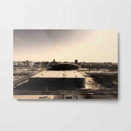 Olympic Bird's Nest Stadium and the Watercube swimming center in Beijing Metal Print