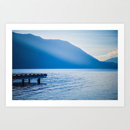 Crescent Lake, Olympic Peninsula, Washington Art Print