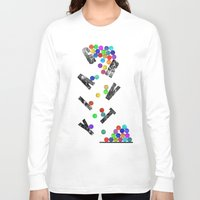 gravity Long Sleeve T-shirts featuring gravity by Nik Russo
