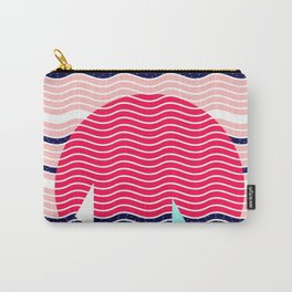 Hello Ocean Sunset Waves Carry-All Pouch