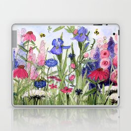 Colorful Garden Flower Acrylic Painting Laptop & iPad Skin