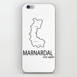 map of marnardal iPhone Skin