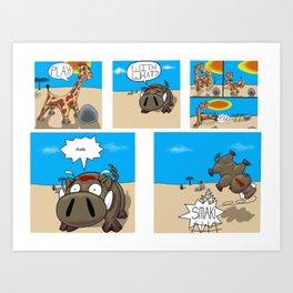 Play cartoon Art Print