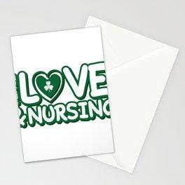 Nurse St Patricks Day Peace Love & Nursing Stationery Cards