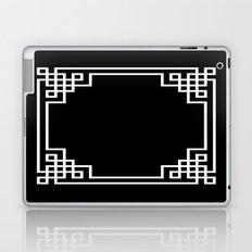 Black White Lattice Frame Laptop & iPad Skin