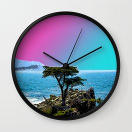 The Lone Cypress Wall Clock