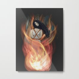 Burn The Witch Metal Print