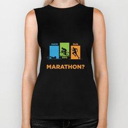 you ran a marathon that s cute Triathlon Iron Man Biker Tank