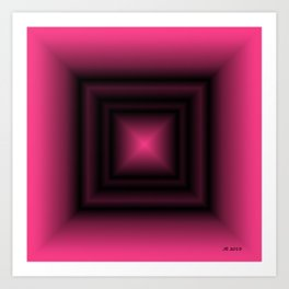 Pink & Square Art Print