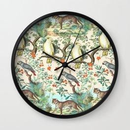 TROPICAL JUNGLE ANIMALS Wall Clock