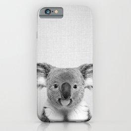 Koala 2 - Black & White iPhone Case