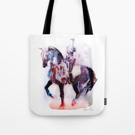 Horse (Dressage rider) Tote Bag