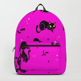 Cats Halloween Cat Lovers Gift for Women Backpack