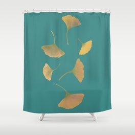 Flying ginkgo Shower Curtain