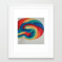 candy Framed Art Prints featuring Candy  by ArtSchool