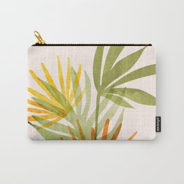 Bright Modern Tropical Greenery Carry-All Pouch