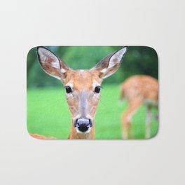 Big Brown Eyes   Deer Bath Mat