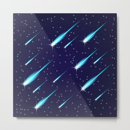 Flying meteors. Metal Print