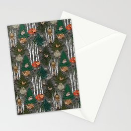 Sleepy Scandinavian Forest Stationery Cards