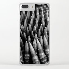 Rounds for Rounds Black and White Clear iPhone Case