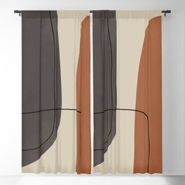 Modern Abstract Shapes #2 Blackout Curtain