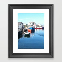 maritimes dock Framed Art Print