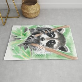 El Bandito Raccoon In The Tree Rug