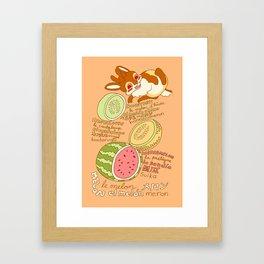 Jackalope and Melon Framed Art Print