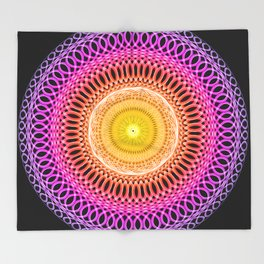Mosiac Mandala Throw Blanket