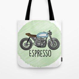 Espresso - Cafe Racer Tote Bag
