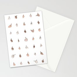 Middle Fingers Colored With Outlines Stationery Cards