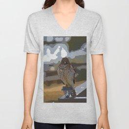 Chicken Hawk Starring Down At Me Unisex V-Neck