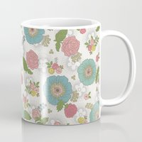 manchester Mugs featuring Manchester floral by Silvia Dekker