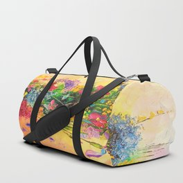 A bouquet of beautiful wildflowers Duffle Bag