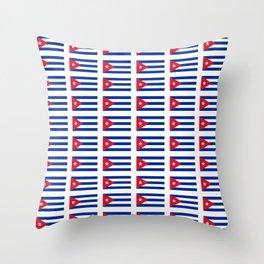 Flag of Cuba 2 -cuban,havana, guevara,che,castro,tropical,central america,spanish,latine Throw Pillow
