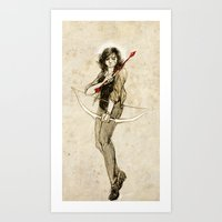 kendrawcandraw Art Prints featuring This angelic beating girl by kendrawcandraw