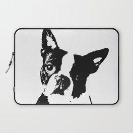 Very Mod, Very Cute.Boston Terrier Original Artwork Laptop Sleeve