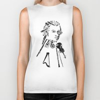 mozart Biker Tanks featuring Wolfgang Amadeus Mozart by bananabread