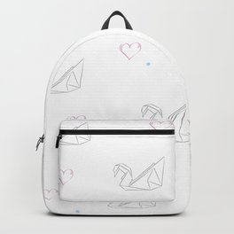 origami swans Backpack