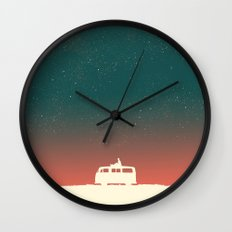Quiet Night - starry sky Wall Clock