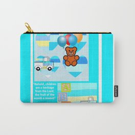 Baby Blue Hearts Psalm 127:3 Carry-All Pouch