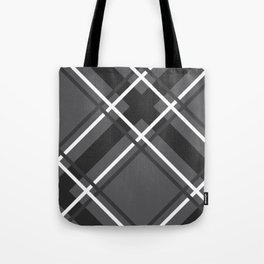 Jumbo Scale Men's Plaid Pattern Tote Bag