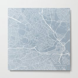 Cambridge Map, USA - Slate Metal Print